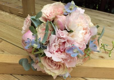 Peonie and Rose Bouquet Wedding