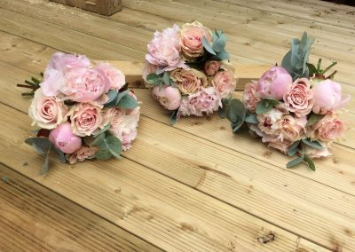 Peonie and Rose Bridesmaids Bouquets