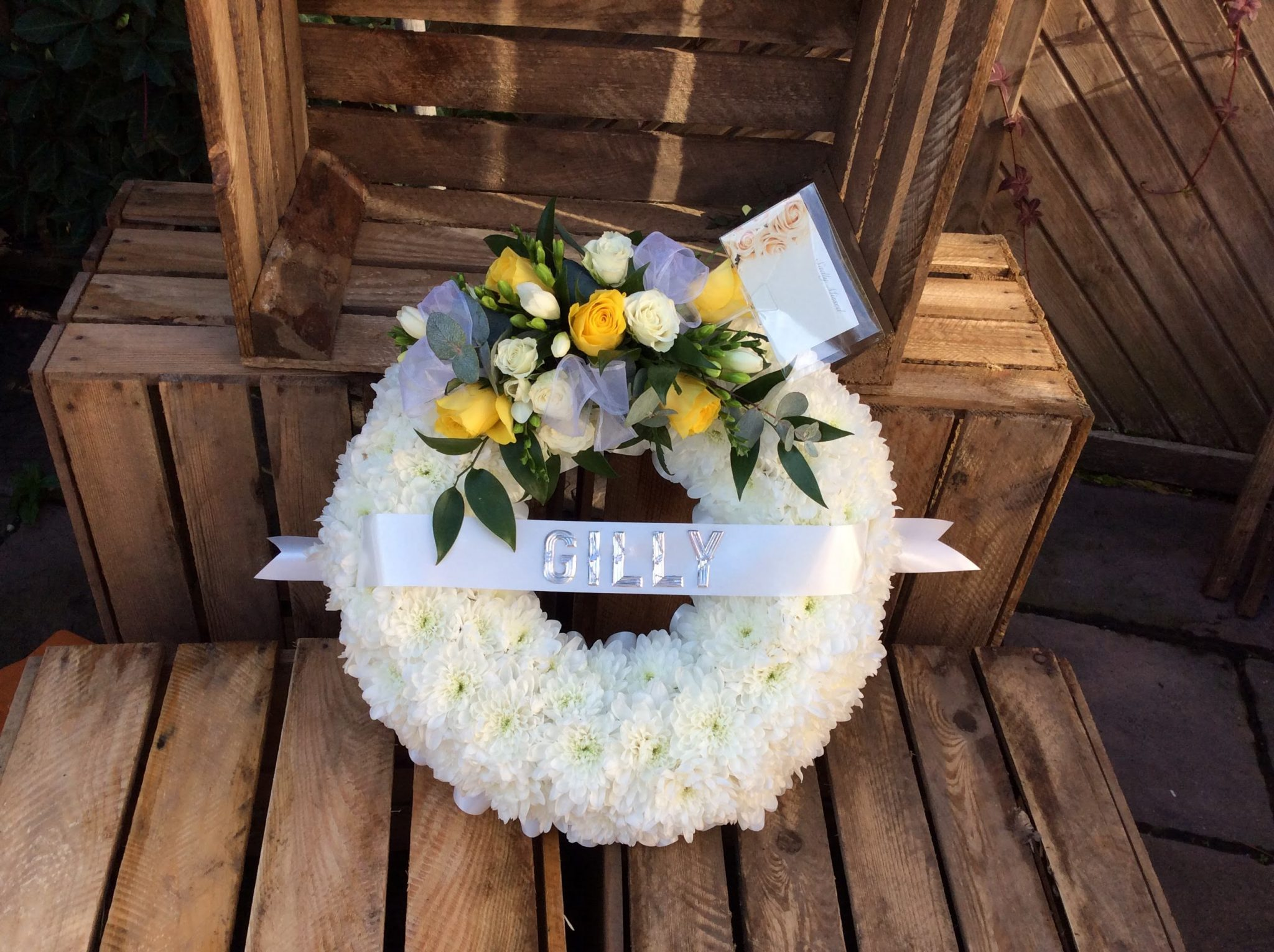 Wreath Based in white